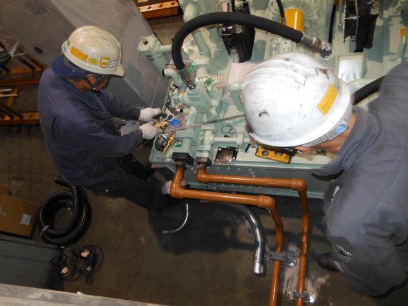 生産ライン分割のための油圧ユニット増設